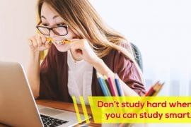Don't study hard when you can study smart
